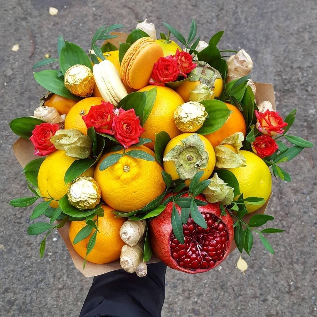 может фруктовые букеты своими руками фото пошагово черных