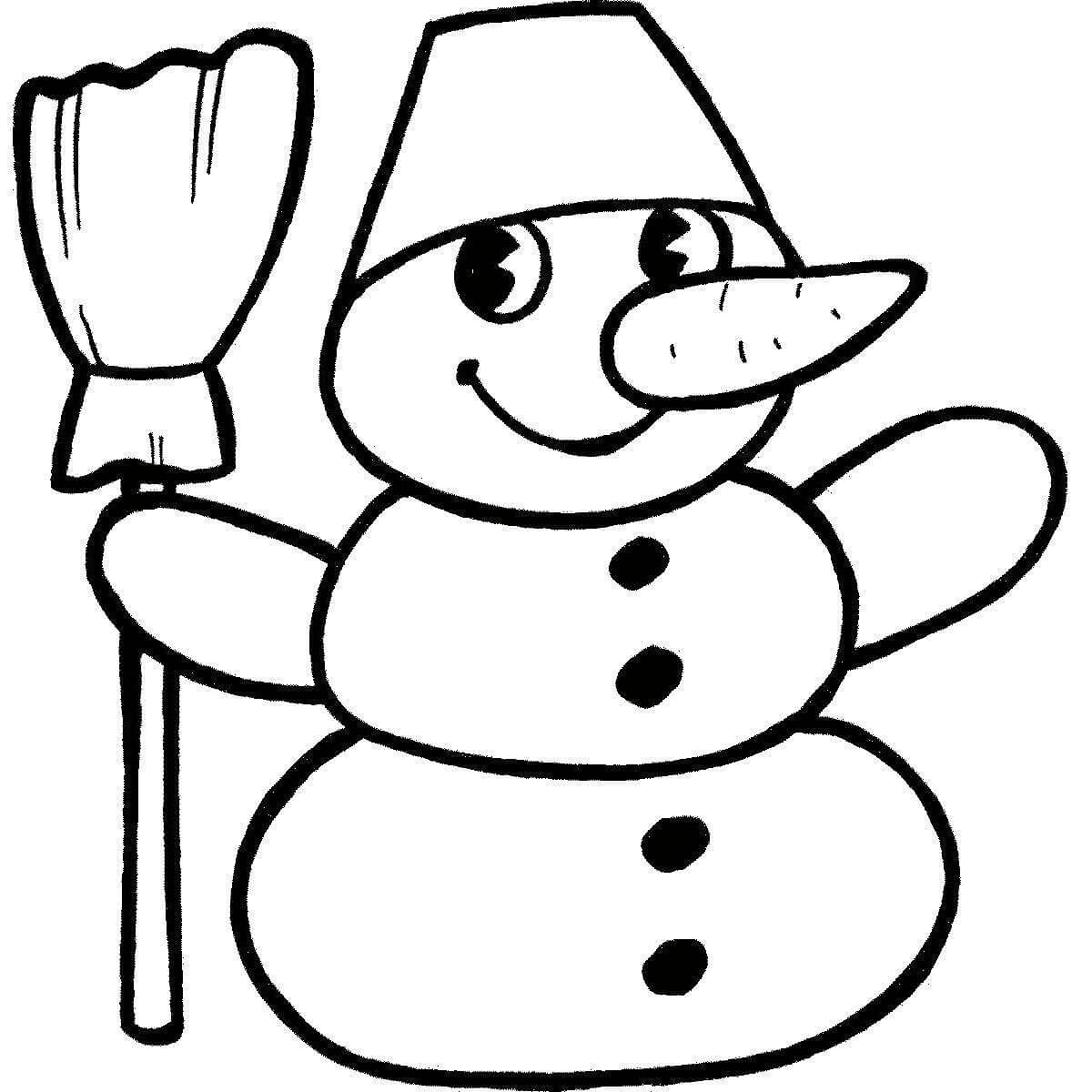 Картинки, нарисовать картинки на новый год снеговик