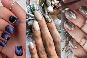 Блестки, минимализм или золото: 70 вариантов новогоднего маникюра 2020 года на короткие ногти