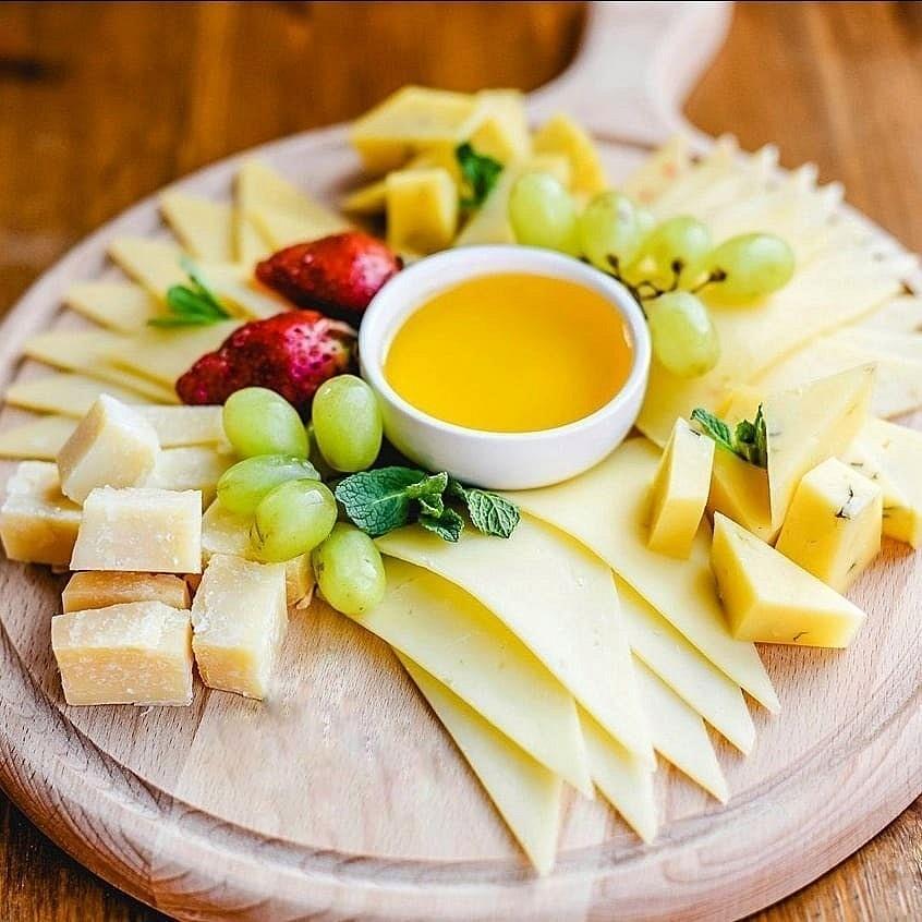 Сырная нарезка пошаговое фото