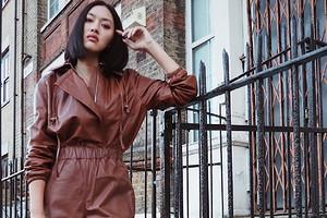 Звезда стритстайла: как носят кожаные коричневые вещи гости недель моды