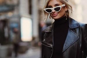 С чем носить женскую кожаную куртку: 10 небанальных идей для осени