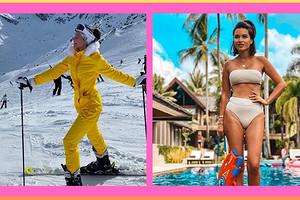 Бикини, пижамы и луноходы: в чем российские звезды провели новогодние каникулы