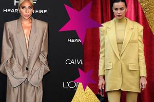 Как носить пиджаки в мужском стиле и не выглядеть нелепо: учимся у Ирины Шейк, Леди Гаги и других звезд