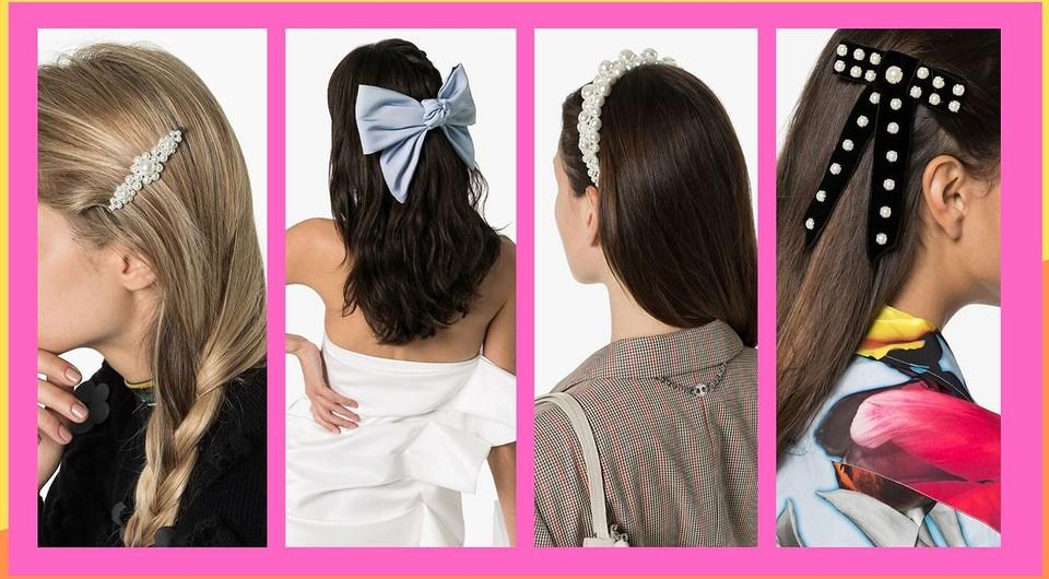 Банты, жемчуг и кожаные ленты: 35 модных аксессуаров для волос 2020