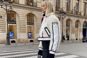 Тренд сезона: с чем носить белую женскую косуху (39 крутых образов)