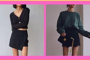 С чем можно носить юбку-шорты: составляем образы для разного времени года (36 примеров на фото)