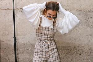 Рукава-фонарики — тренд 2020 года: модные образы с блузами, платьями и топами (38 примеров на фото)