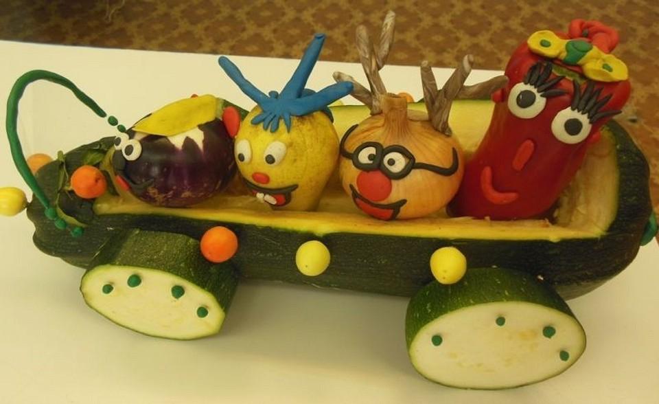 Осенние поделки из овощей и фруктов своими руками: больше 20 идей для сада и школы (видео)