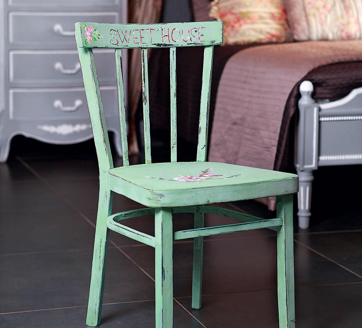 Как оформить стул в стиле шебби-шик: мастер-класс