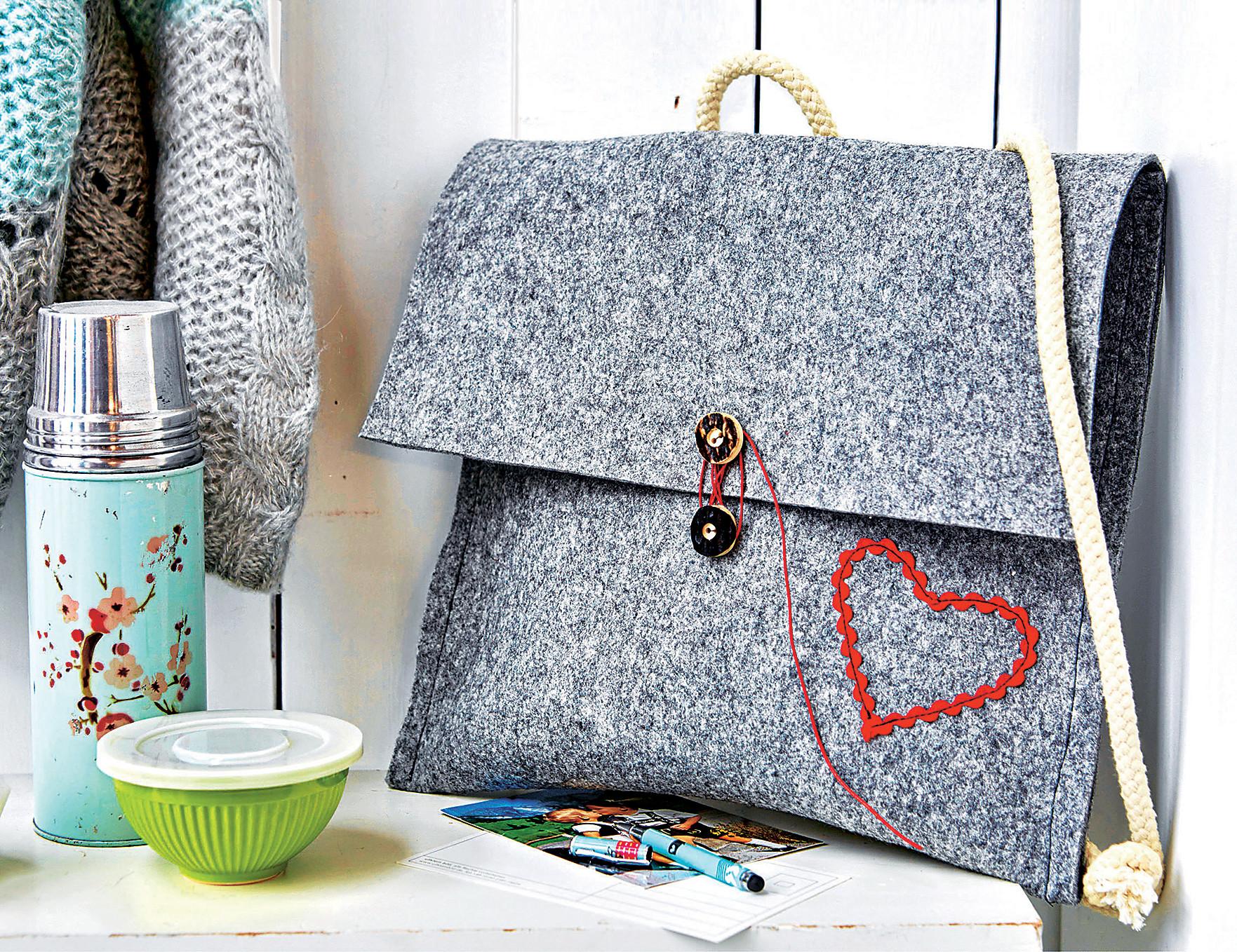 Мастер-класс: модная сумка-портфель из войлока