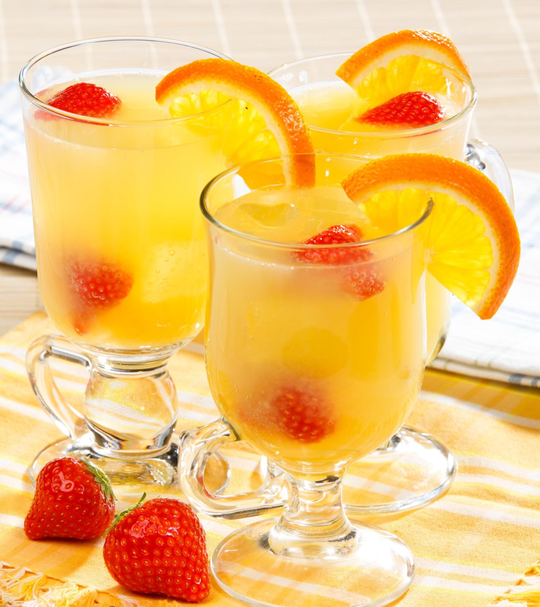 Крюшон из лимонов и апельсинов
