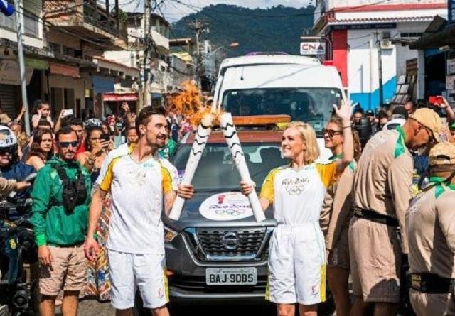Полина Гагарина и Дима Билан на Олимпиаде в Рио