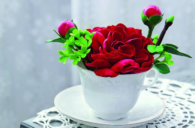 Цветы из полимерной глины: как сделать пионы