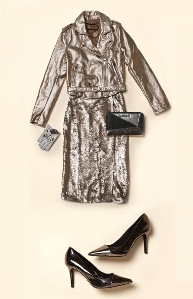 Блеск металла: с чем сочетать ультрамодную одежду