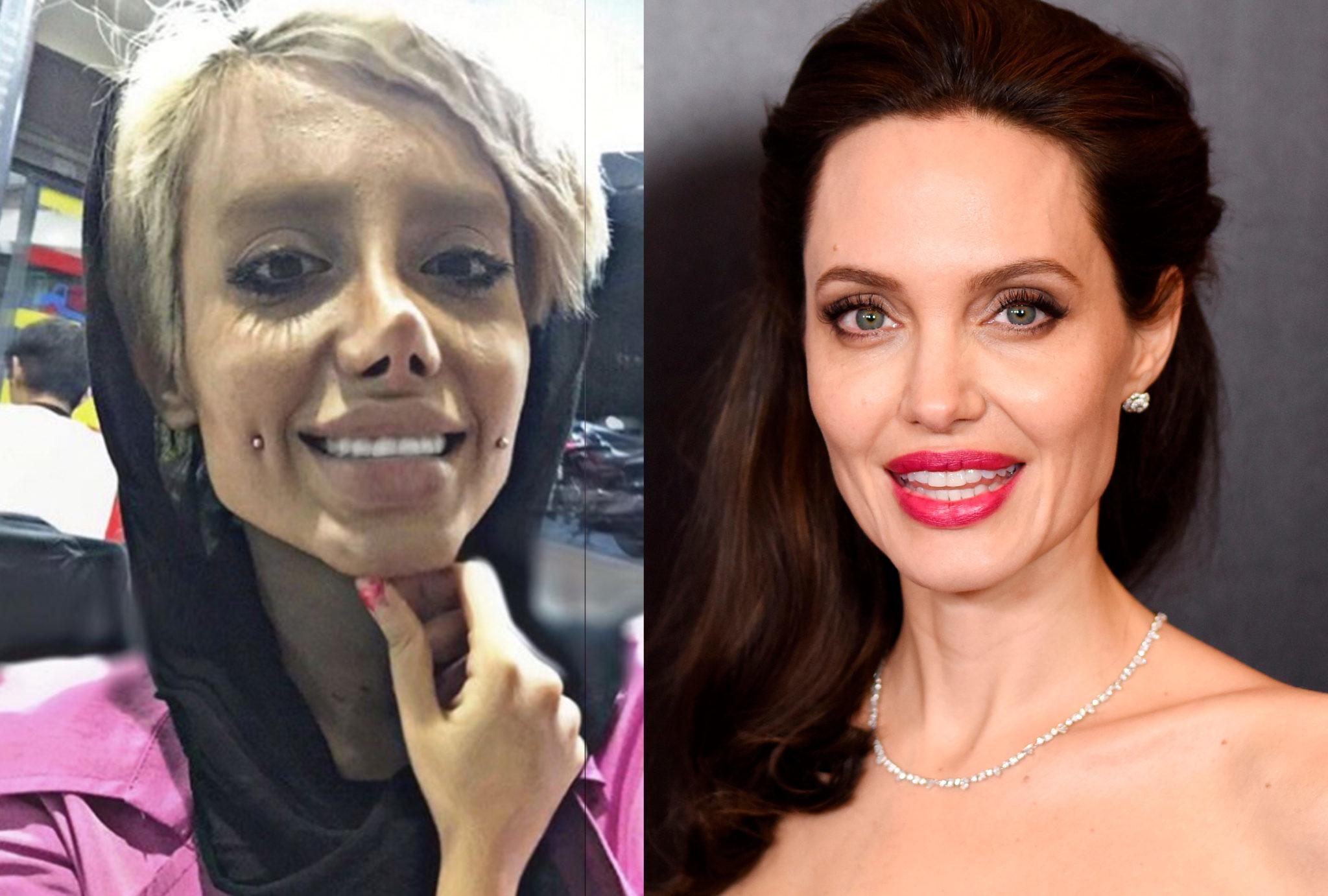 Что сделала с собой эта женщина, чтобы быть похожей на Джоли?
