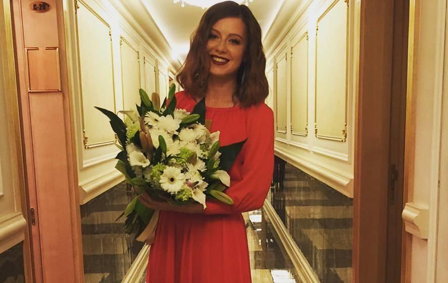 Юлия Савичева впервые вышла в свет после родов