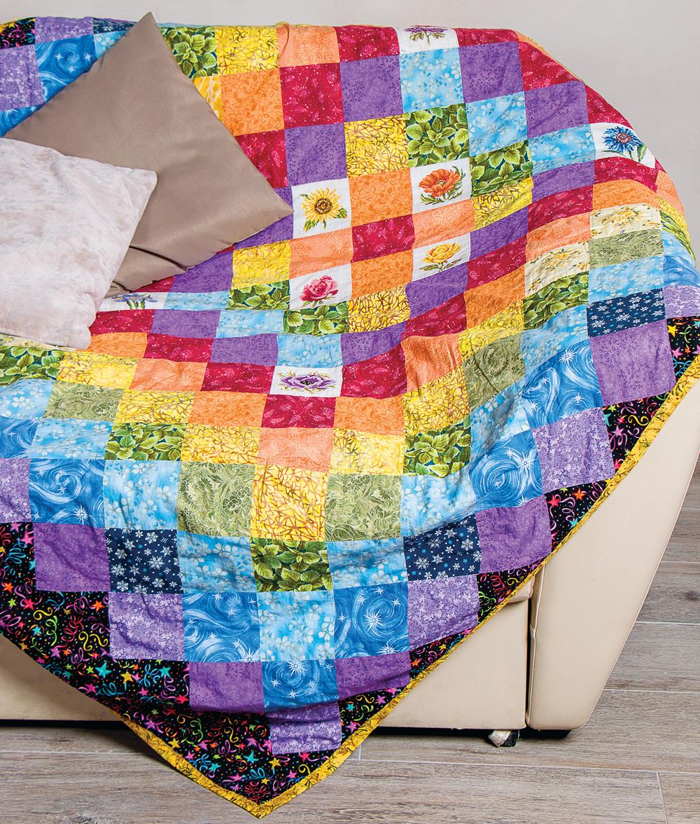 Одеяло в стиле печворк: мастер-класс