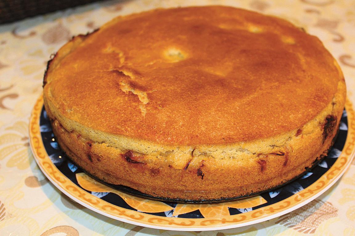 Постный заливной пирог с картошкой