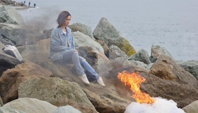 Ольга Бузова сожгла свое свадебное платье