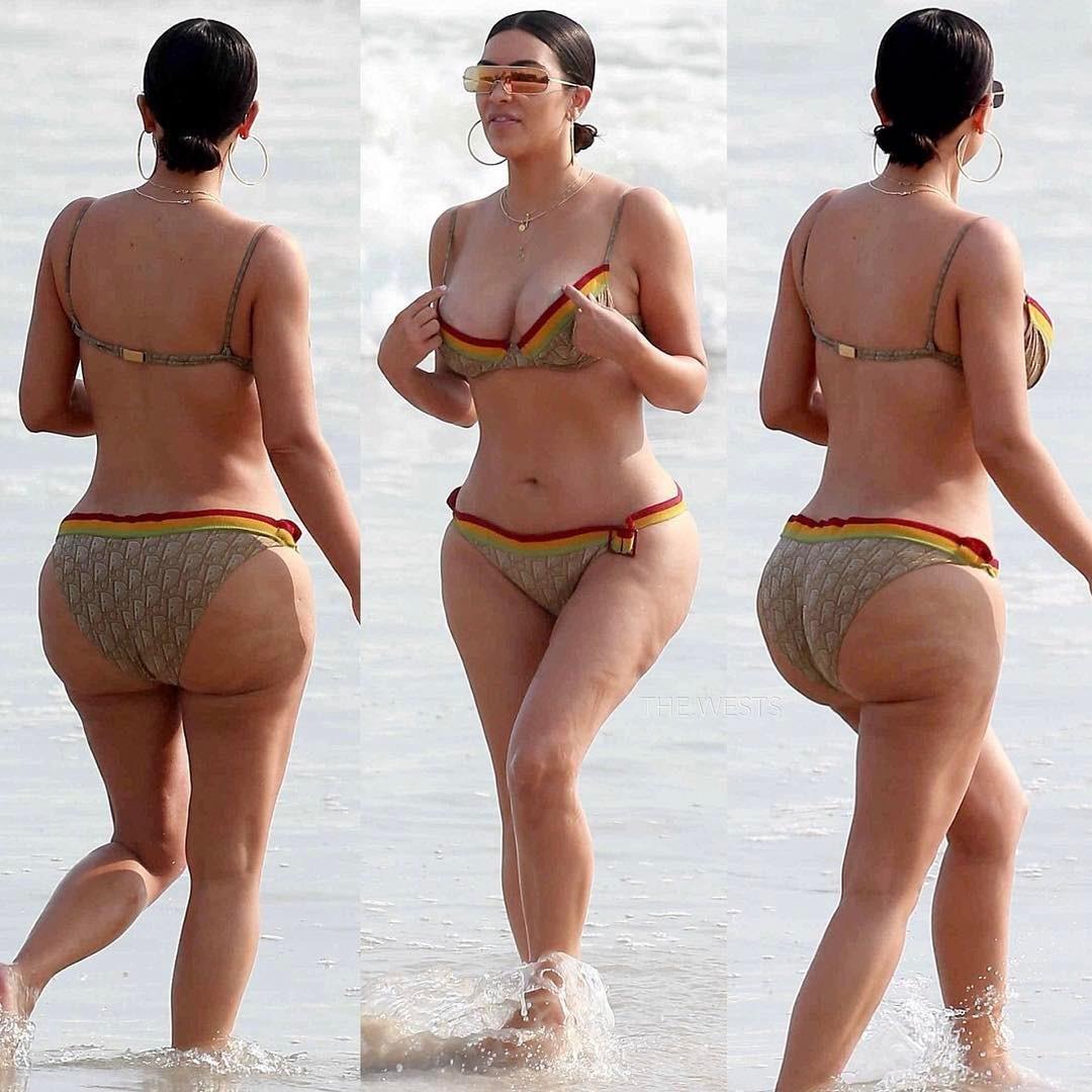 Тыл поплыл: Ким Кардашьян «похвасталась» целлюлитом на пляже в Мексике