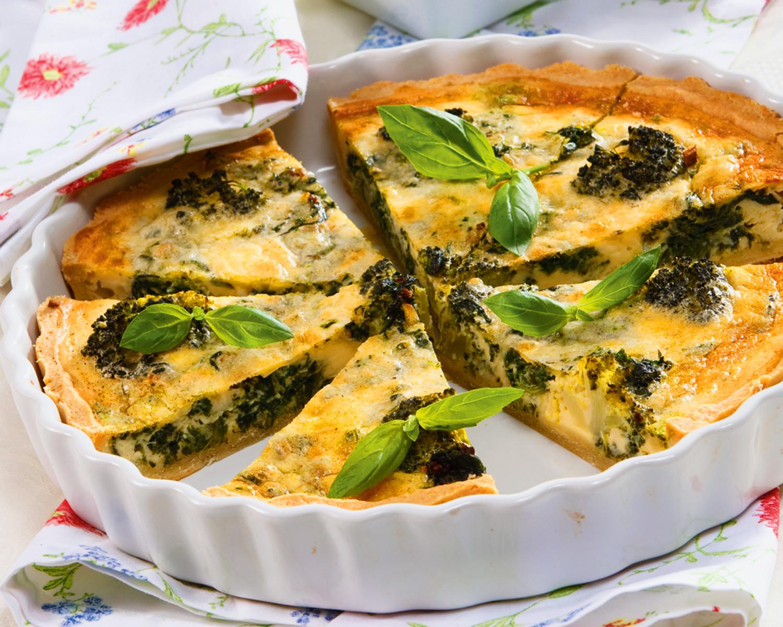 Киш со шпинатом: рецепт (фото)
