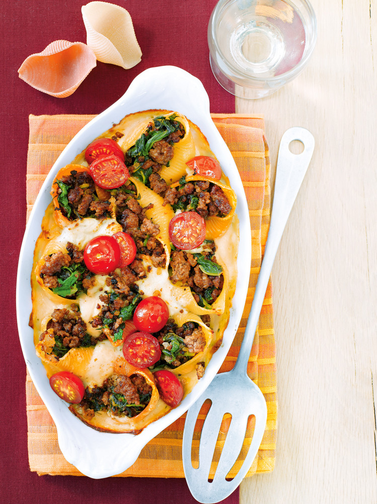 Запеканка с мясом и шпинатом (фото)