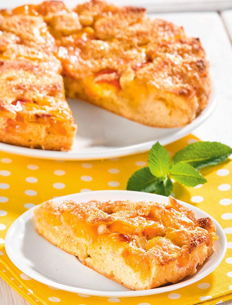 Абрикосовый пирог-перевертыш: рецепт с фото