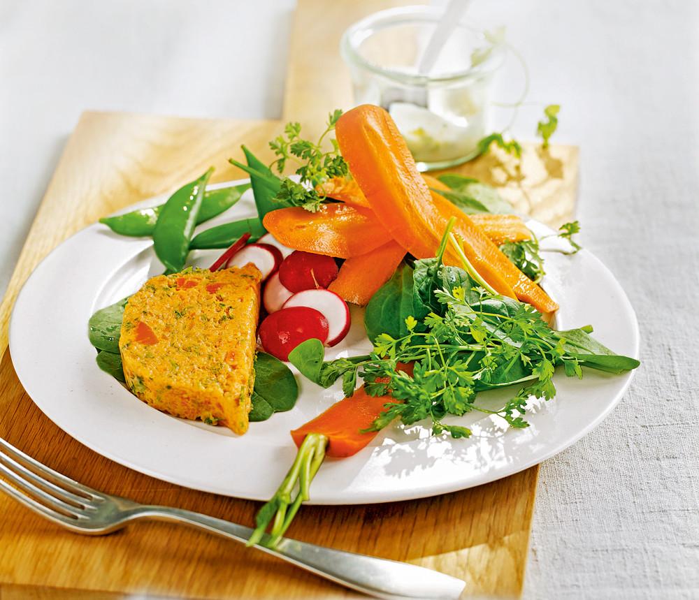 Морковный террин с базиликом