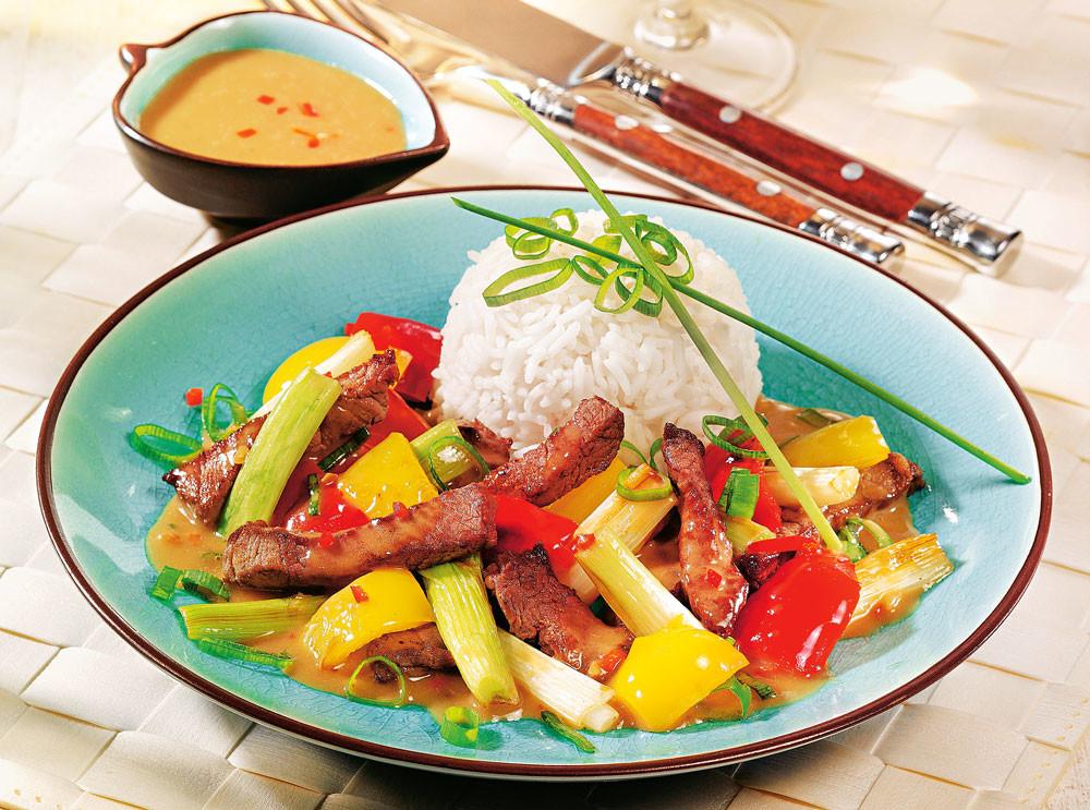Рагу из говядины по-тайски