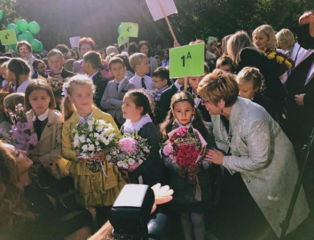 1 сентября: Светлана Лобода, Ксения Бородина и другие звезды отвели детей в школу