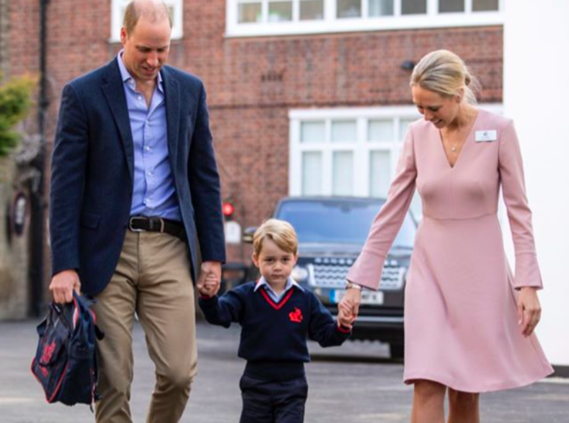 Принц Джордж отправился в первый класс: видео