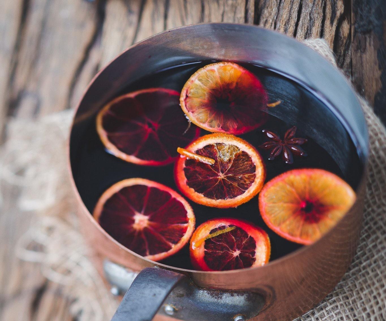 Ароматный глинтвейн с фруктами