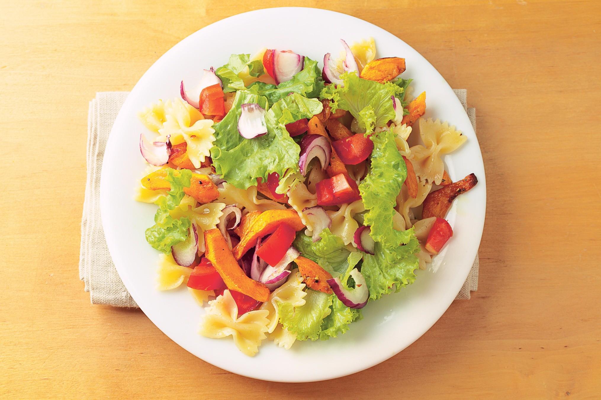 Салат из тыквы и пасты