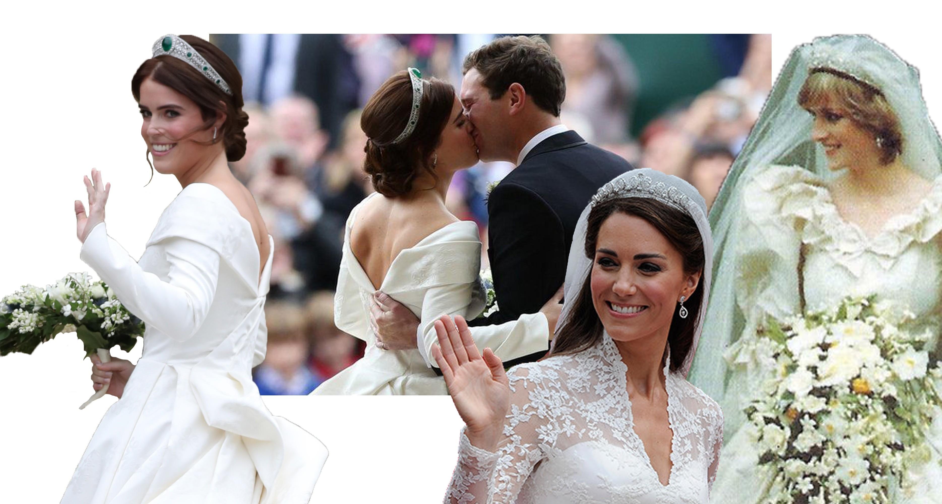 Битва платьев принцесс: в Сети сравнивают подвенечные наряды наследниц британского престола