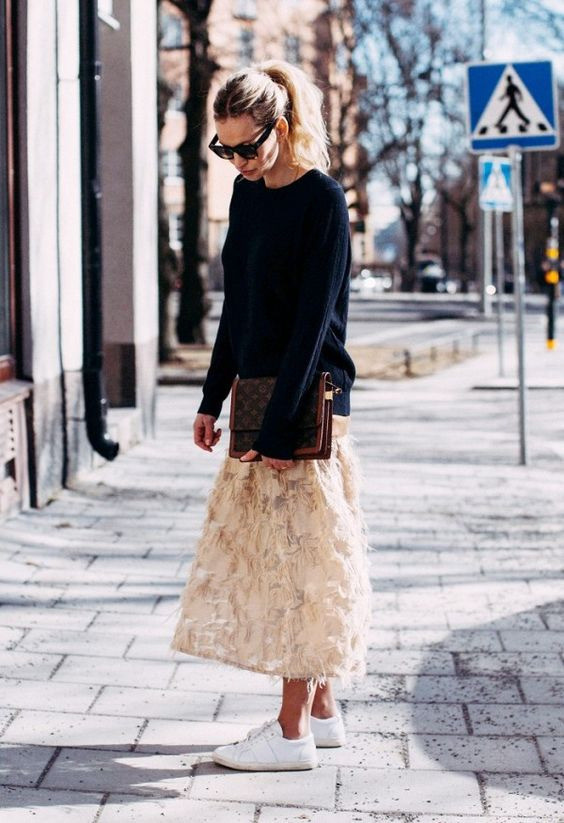 Воздушное легкое платье + свитшот