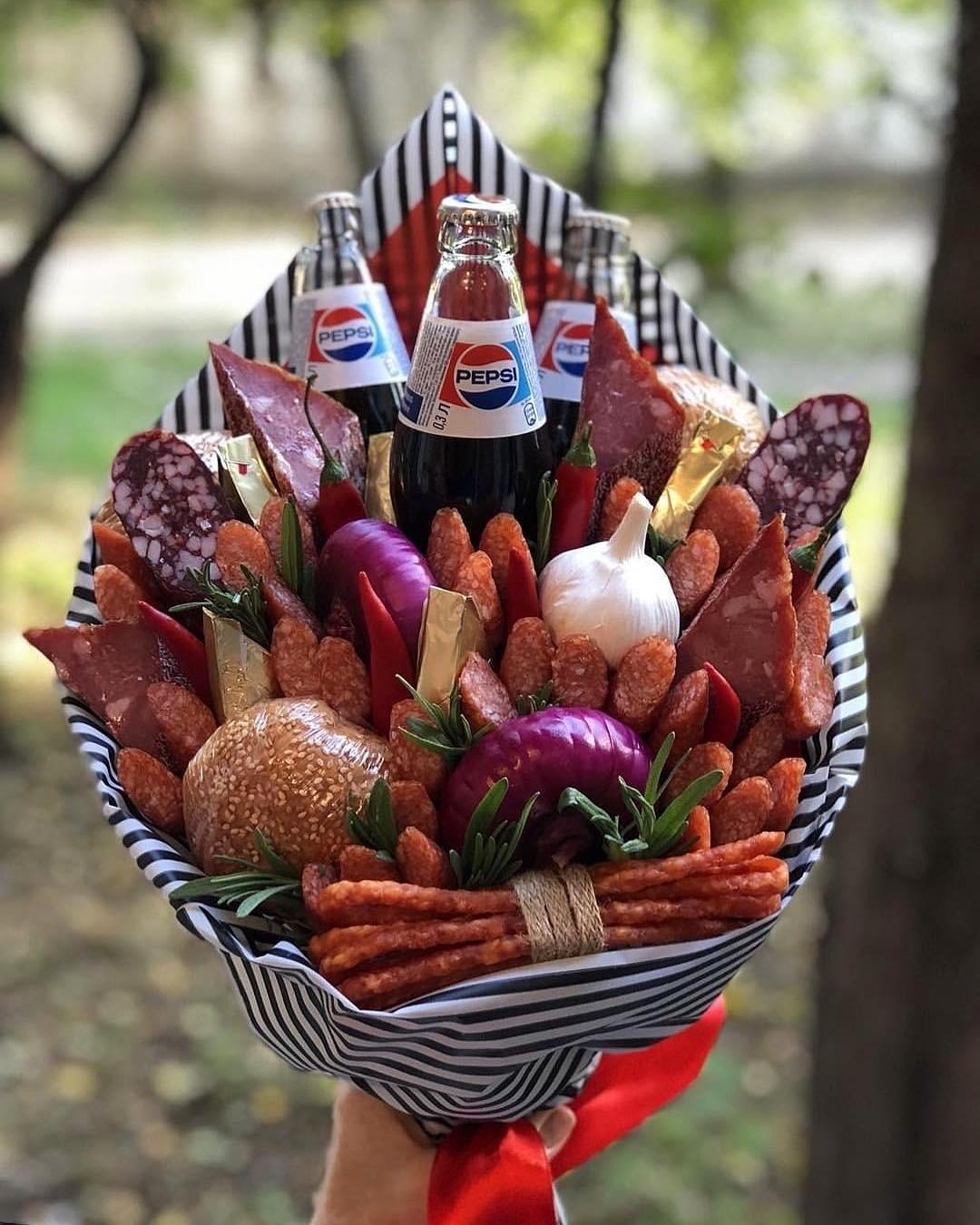 Букет на 23 февраля из продуктов, доставка цветов уфа круглосуточно сипайлово