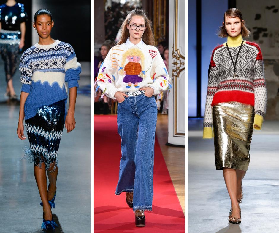Новый тренд «уродливый свитер»: что это такое и с чем его носить?