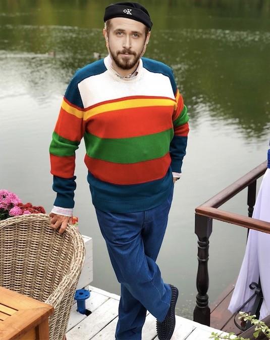 Райан Гослинг выбрал бы похожий лук для отдыха у реки в Подмосковье (если бы отдыхал у реки в Подмосковье).