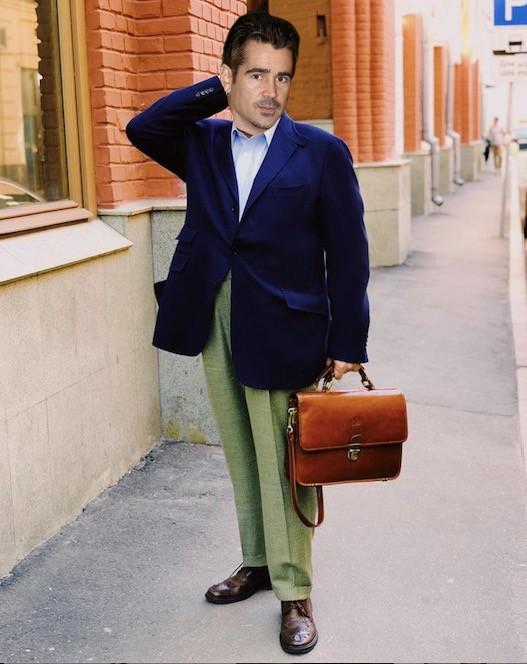 Колин Ферт тоже фанат сложных цветовых сочетаний в одежде