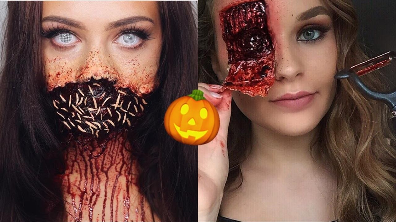 Самый страшный макияж для Хэллоуина: топ-15 идей из Instagram