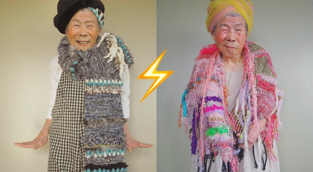 Модная бабушка из Японии Морри - новая икона Instagram
