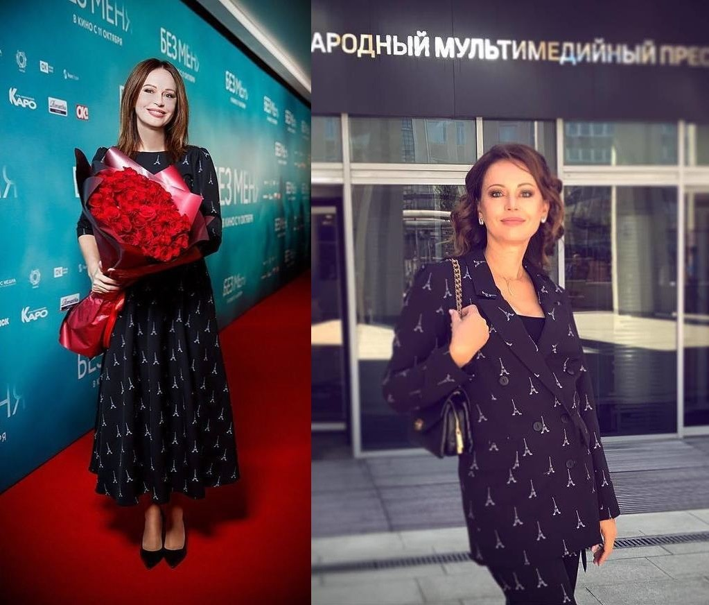 «Что за хитрый приемчик?»: зачем Ирина Безрукова носит разные вещи с одинаковым принтом?