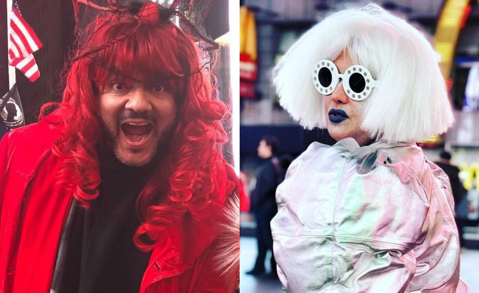 Филипп Киркоров и Анна Нетребко отметили Хэллоуин в причудливых париках