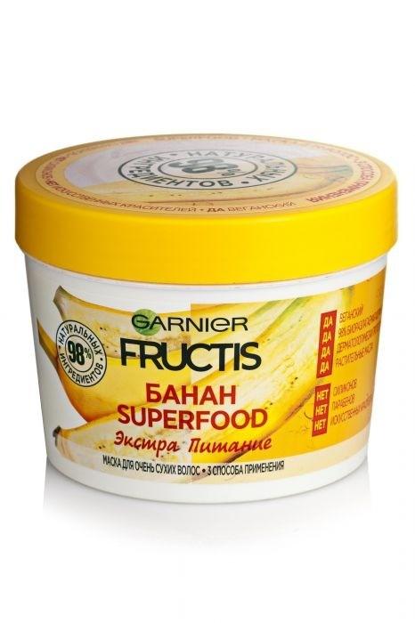 GARNIER Маска 3 в1 дляочень сухих волос Fructis SuperFood Банан
