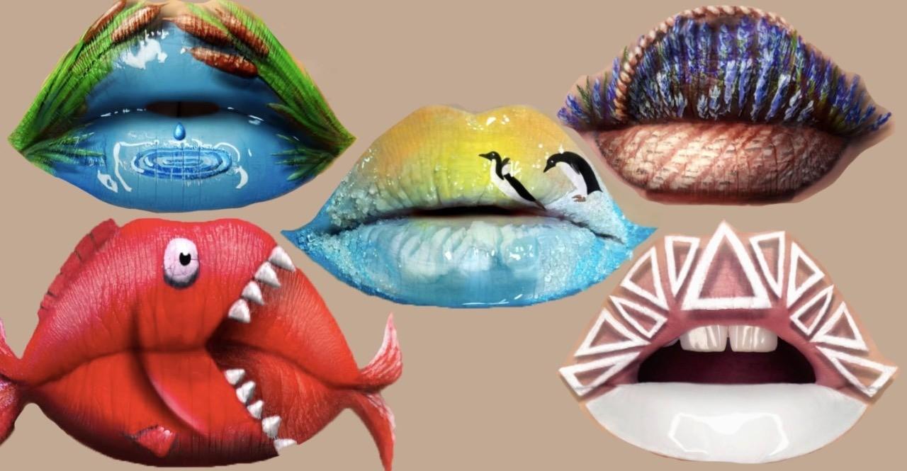 Девушка из украинской глубинки создает картины на своих губах