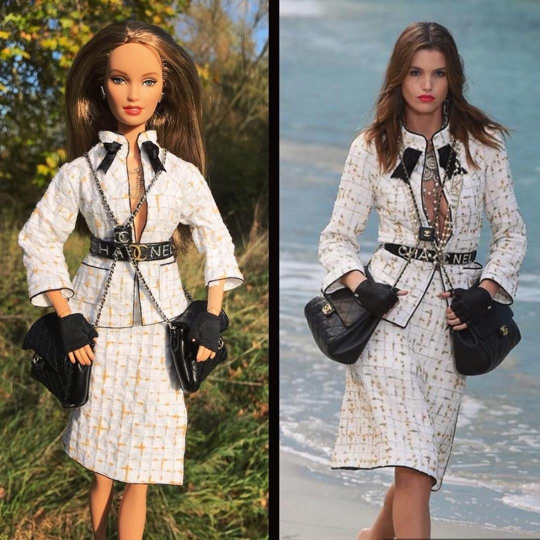 Новый флэшмоб: пользователи Сети наряжают кукол Барби в костюмы от люксовых брендов