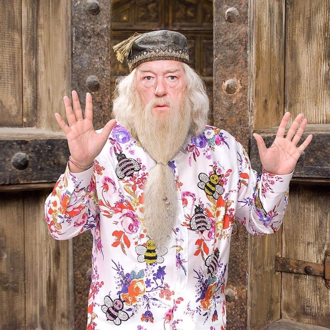 Несмотря напреклонный возраст (Альбусу Дамблдору 116 лет), директор школы магии иволшебства отлично разбирается вмоде! Вэтом году цветочный принт покорил сердца нетолько наивных модн...