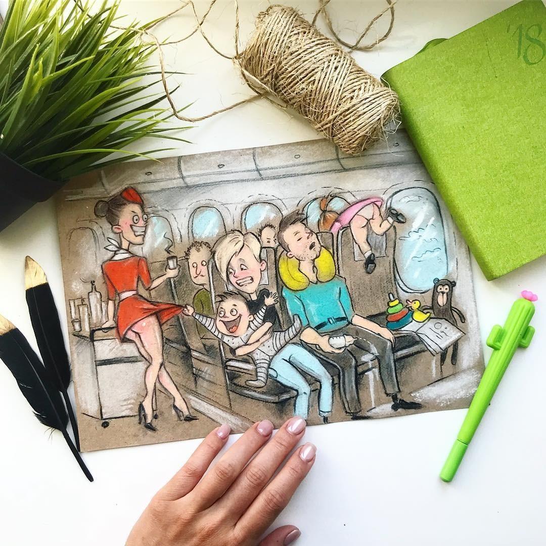 «Как знакомо!» Мама из Ульяновска создает честные рисунки о жизни с двумя детьми