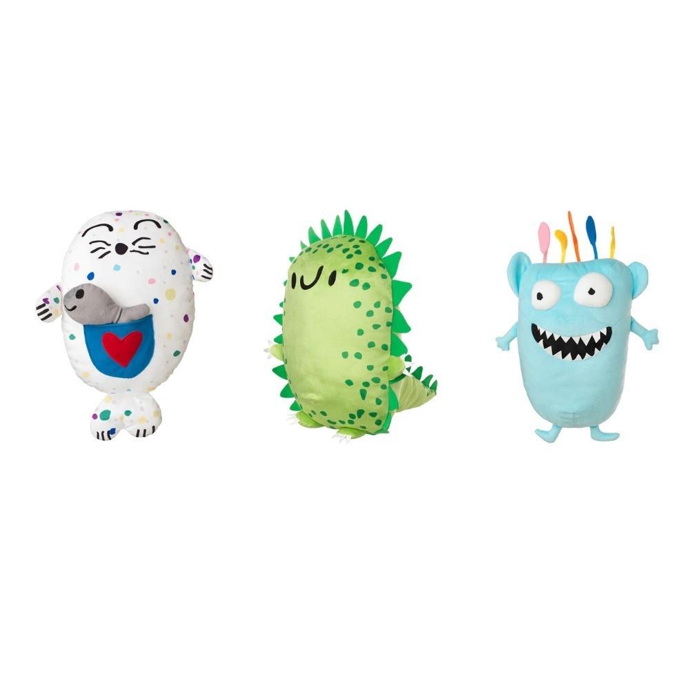Ежезавр и монстр Монстр: IKEA выпустили коллекцию игрушек по мотивам детских рисунков